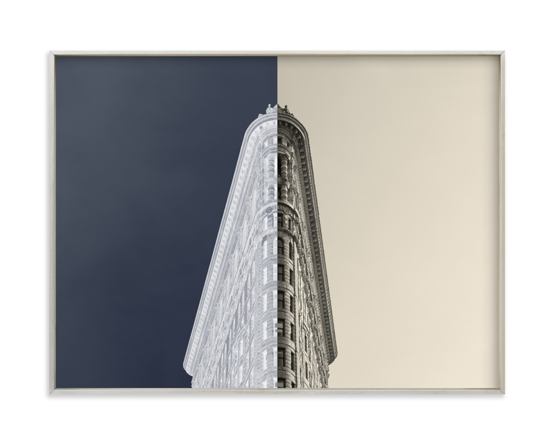 Negative Space: New York Flatiron I Wall Art Print