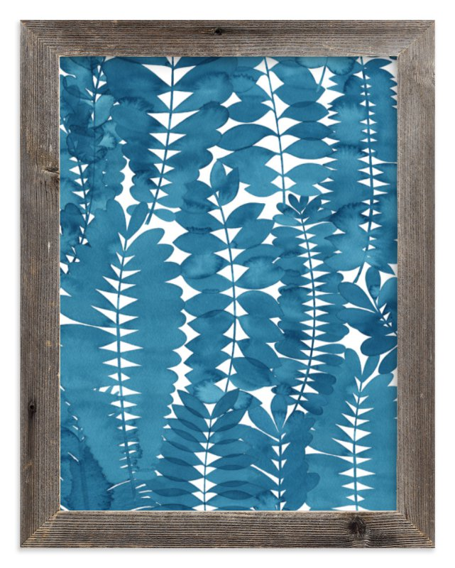 """""""Indigo Leaves"""" - Limited Edition Art Print by Natalie Ryan in beautiful frame options and a variety of sizes."""