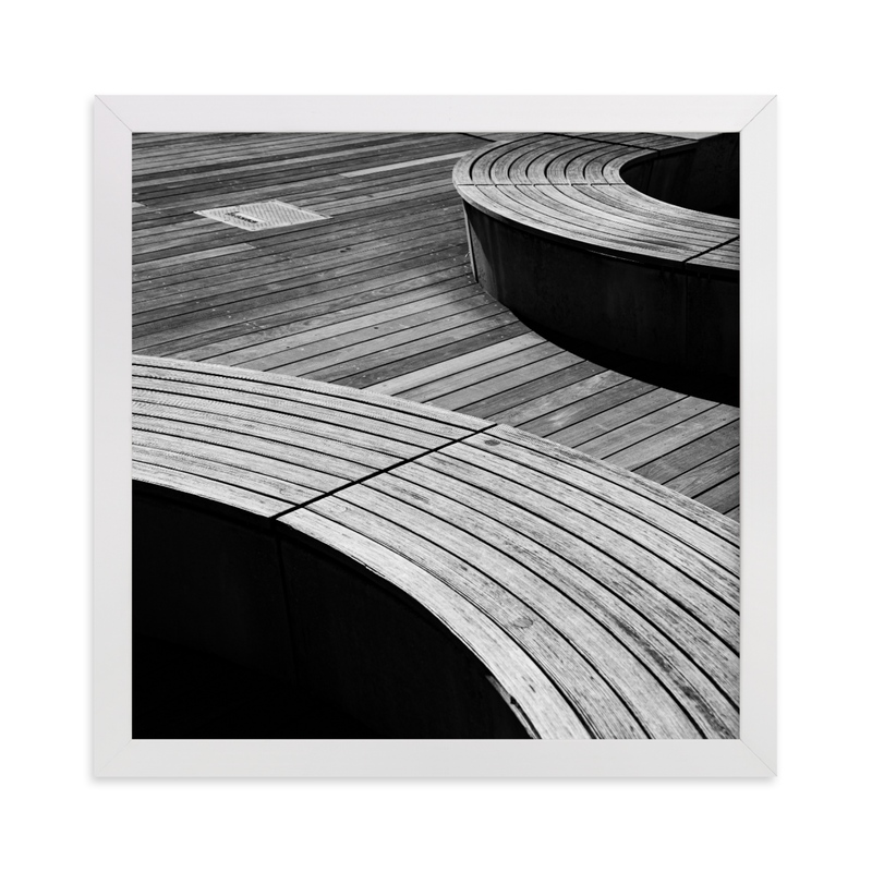 """""""Curve Bench Geometric II"""" - Limited Edition Art Print by van tsao in beautiful frame options and a variety of sizes."""