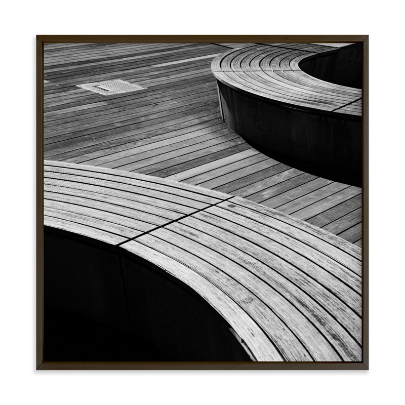 Curve Bench Geometric II Wall Art Print
