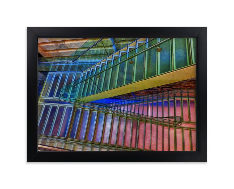 """""""Stairs NYC Library"""" - Limited Edition Art Print by A Maz Designs in beautiful frame options and a variety of sizes."""