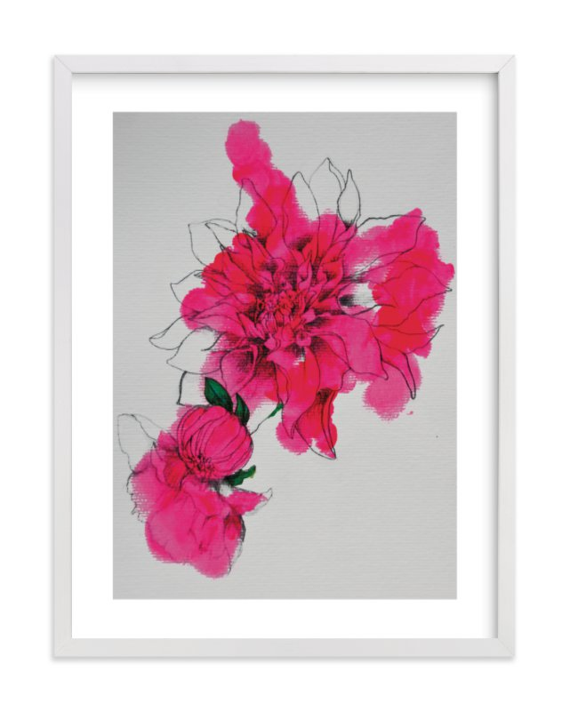 """Neon Bloom"" - Limited Edition Art Print by Sonal Nathwani in beautiful frame options and a variety of sizes."