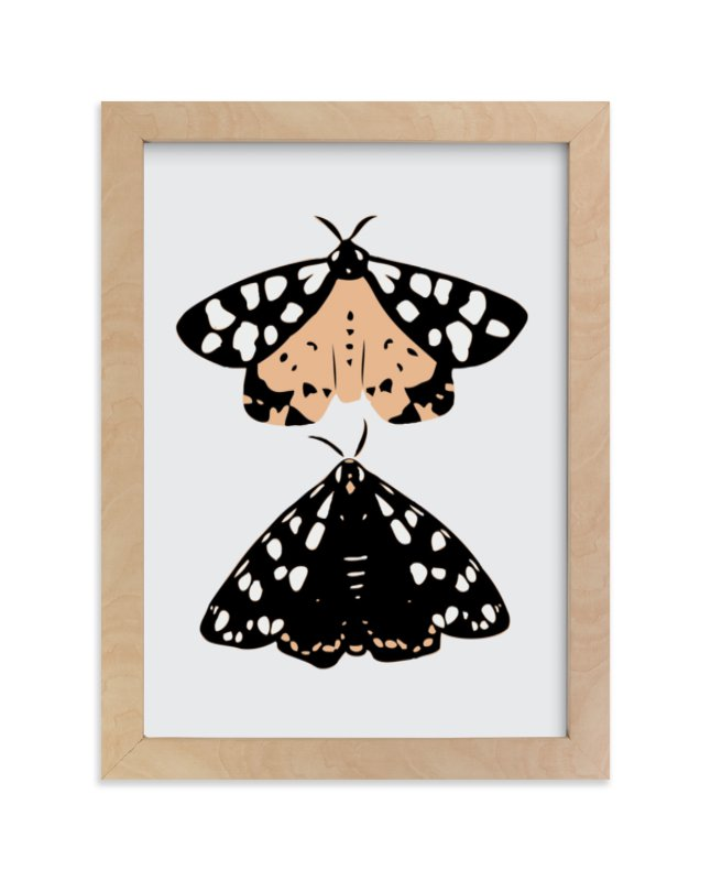 """""""On Moth's Wings"""" - Limited Edition Art Print by Lauren Blair in beautiful frame options and a variety of sizes."""