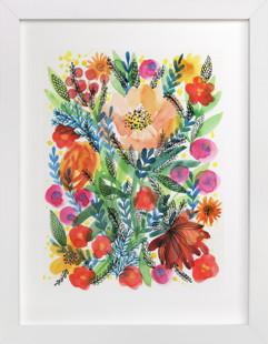 Summer bloom Domino Non-custom Art Print