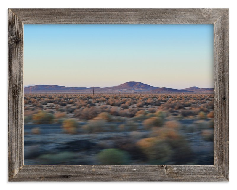 """Desert Twilight"" - Limited Edition Art Print by A Real Peach Studio in beautiful frame options and a variety of sizes."