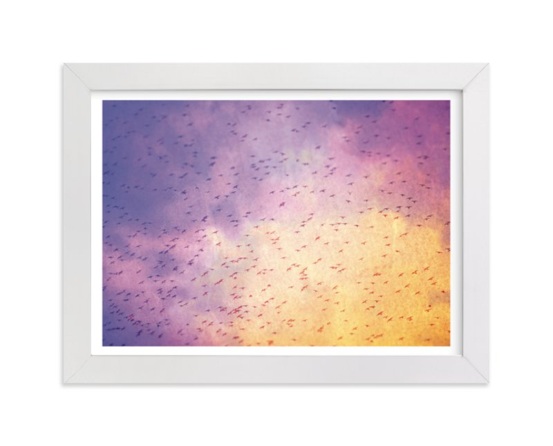 """""""Flock"""" - Limited Edition Art Print by Smile Peace Love in beautiful frame options and a variety of sizes."""