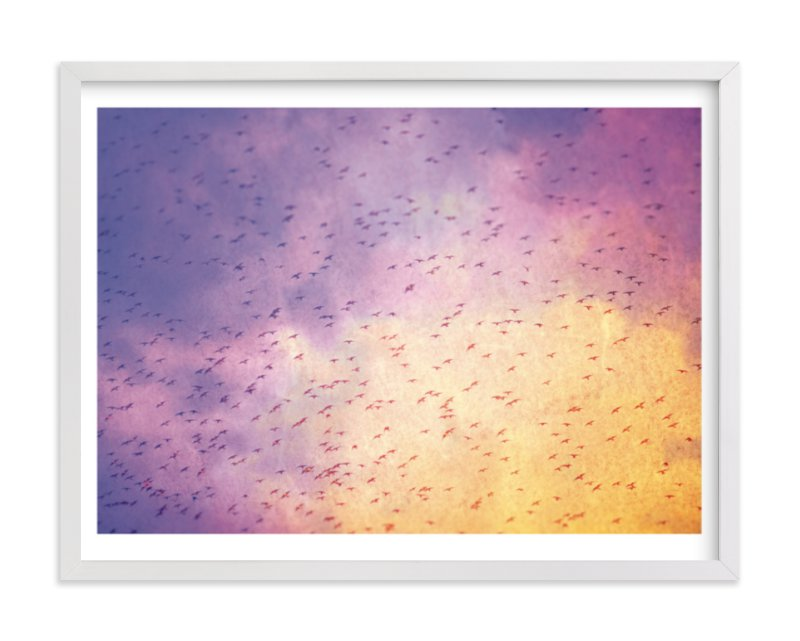 """Flock"" - Limited Edition Art Print by Smile Peace Love in beautiful frame options and a variety of sizes."