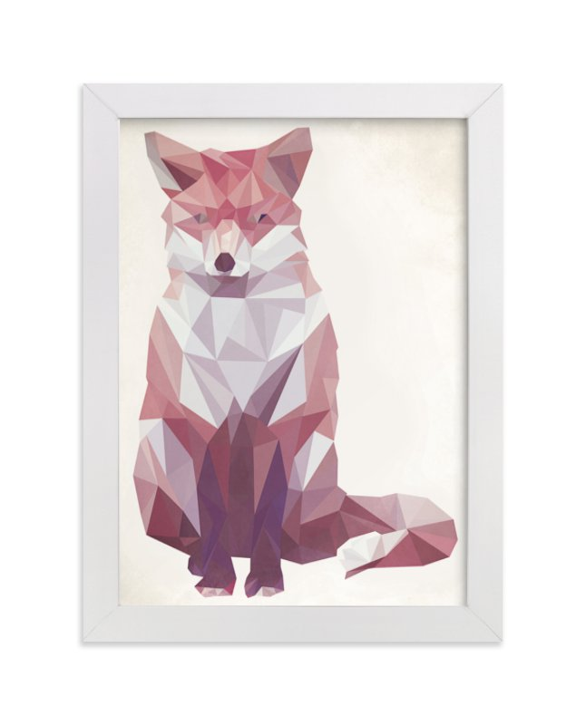 """""""Geometric Fox"""" - Limited Edition Art Print by Keri Chubb in beautiful frame options and a variety of sizes."""