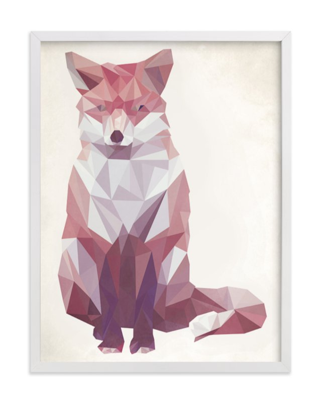 """Geometric Fox"" - Limited Edition Art Print by Keri Chubb in beautiful frame options and a variety of sizes."