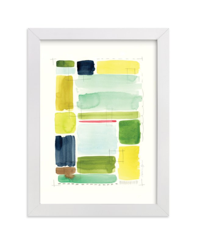 """""""Indigold Color Study"""" - Limited Edition Art Print by Stephanie Ryan in beautiful frame options and a variety of sizes."""