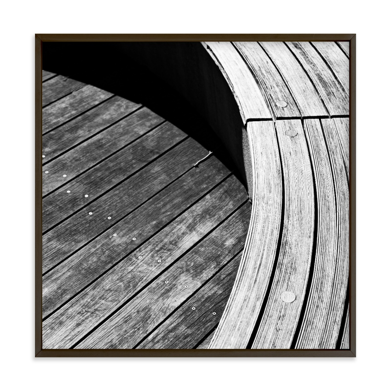 Curve Bench Geometric IIII Wall Art Print