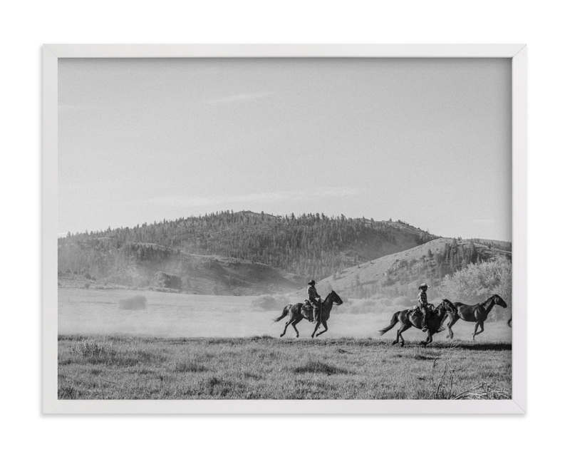 This is a black and white art by Sara Hicks Malone called wild wild west I.