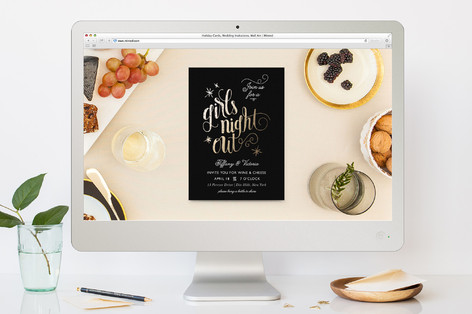 We Run The World Girls Night Out Online Invitations