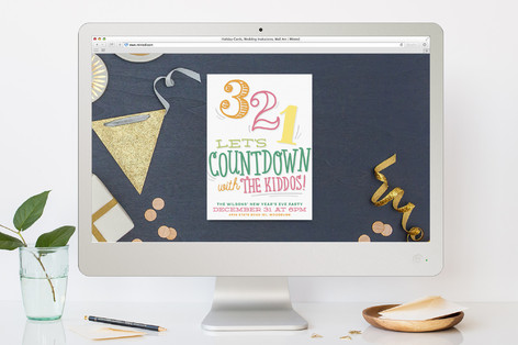Kid's Countdown New Year's Eve Online Invitations
