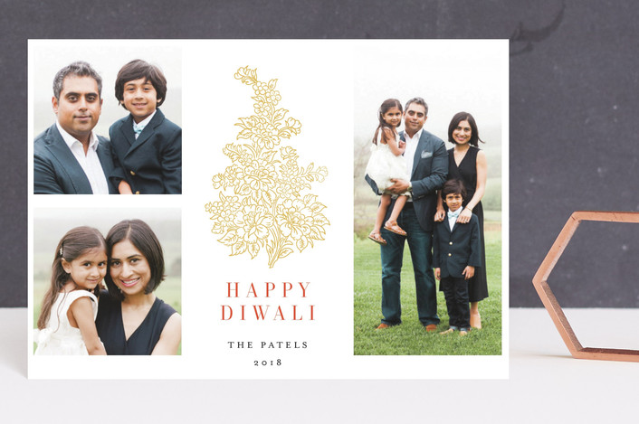 """""""Paisley"""" - Diwali Postcards in Sunset by Nazia Hyder."""