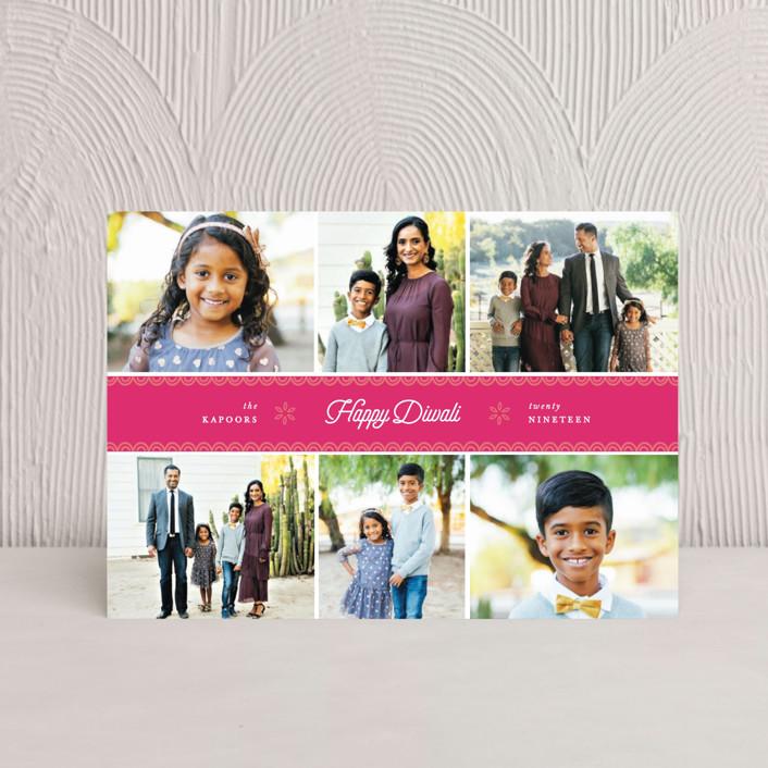 """festive six"" - Diwali Postcards in Candy by Sweta Modi."