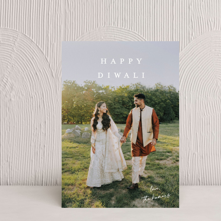 """""""Signed With Love"""" - Diwali Postcards in Linen by Kasia Labocki."""