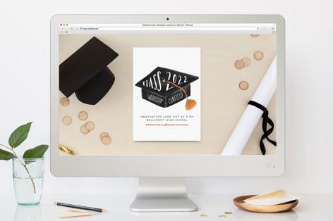 Hats Off Graduation Graduation Online Invitations