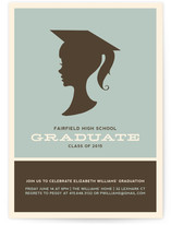 Graduate Silhouette Graduation Online Invitations
