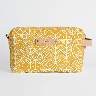 This is a yellow dopp kit by Michelle Taylor called Deconstruct in standard.