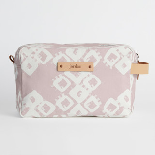This is a pink dopp kit by Zhay Smith called Marrakech Diamond in standard.