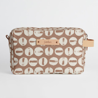 This is a brown dopp kit by Carrie ONeal called Penny Thoughts in standard.