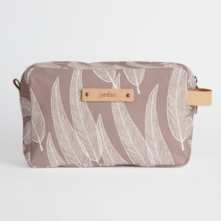 This is a purple dopp kit by Katharine Watson called Sketched Willow in standard.