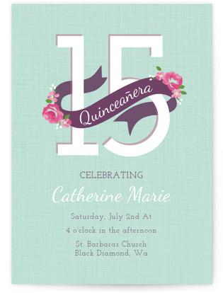 Floral Quinceanera Quinceaera Online Invitations