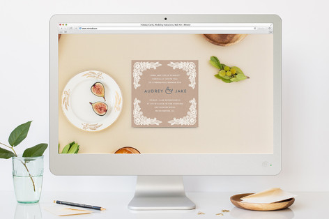 Floral Lace Frame Rehearsal Dinner Online Invitations