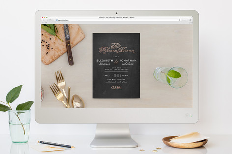 Formal Rehearsal Dinner Online Invitations