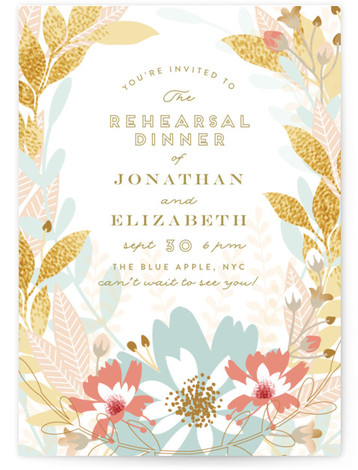 rehearsal dinner online invitations minted
