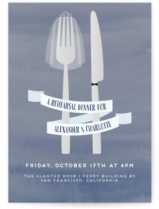 silverware rehearsal dinner online invitations