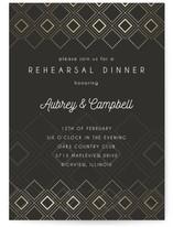 Patterned Diamonds Rehearsal Dinner Online Invitations