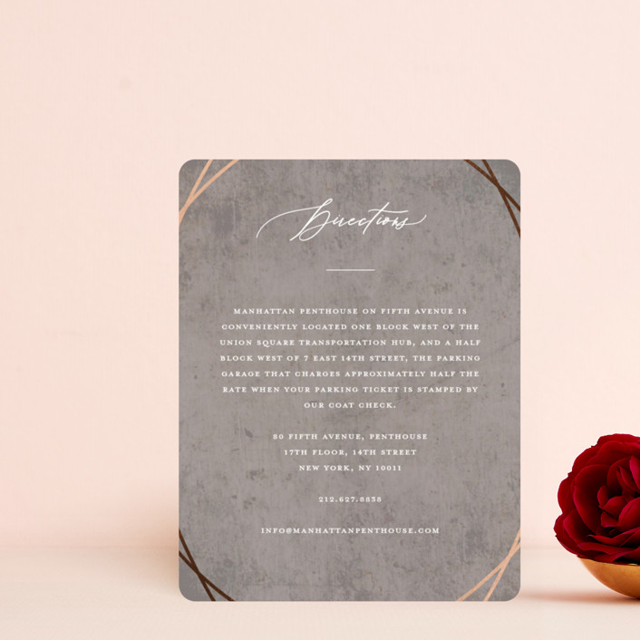 """""""Mirror, Mirror"""" - Foil-pressed Direction Cards in Taupe by fatfatin."""