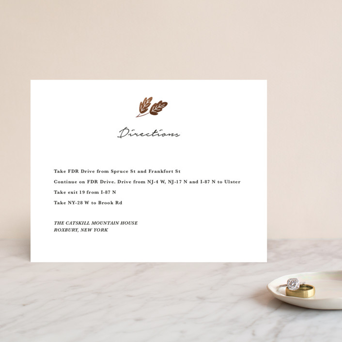 """""""Duet"""" - Foil-pressed Direction Cards in Ivory by Griffinbell Paper Co.."""