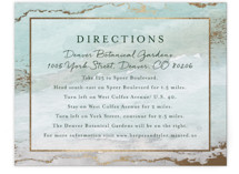 Gilded Shore Foil-Pressed Direction Cards