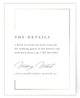 This is a white enclosure card by Kelly Schmidt called Gilded Border with foil-pressed printing on signature in standard.