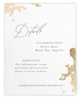 This is a white enclosure card by Design Lotus called far and away with foil-pressed printing on signature in standard.