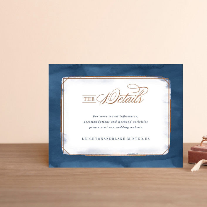 """""""Forever Elegant"""" - Foil-pressed Direction Cards in Mauve by Hooray Creative."""