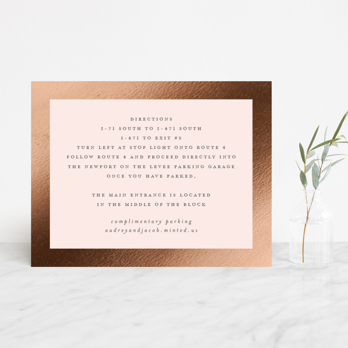 """""""Corners"""" - Foil-pressed Direction Cards in Blush by Carrie ONeal."""
