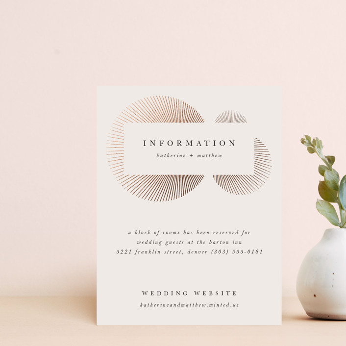 """""""Starburst"""" - Modern Foil-pressed Direction Cards in Champagne by letterfix."""