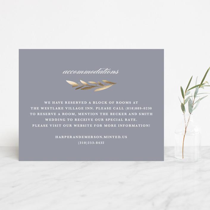 """Florabel"" - Rustic Foil-pressed Direction Cards in Lavender by Olivia Raufman."