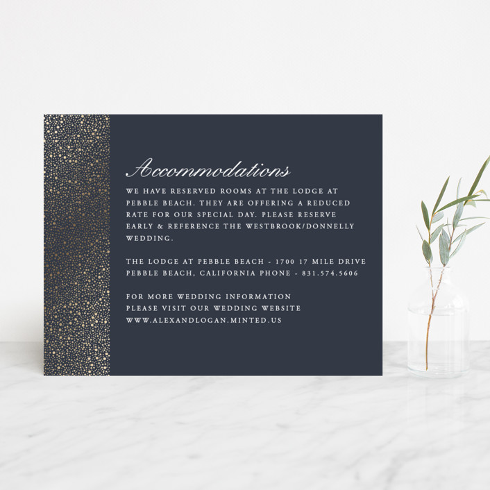 """""""glittered"""" - Foil-pressed Direction Cards in Charcoal by Erin Deegan."""