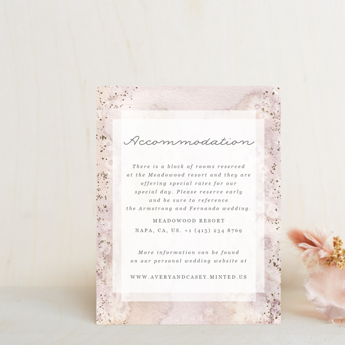 """""""Champagne"""" - Foil-pressed Direction Cards in Flutter by Creo Study."""