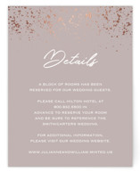 This is a brown enclosure card by Juliana Zimmermann called Paint Splash with foil-pressed printing on signature in standard.