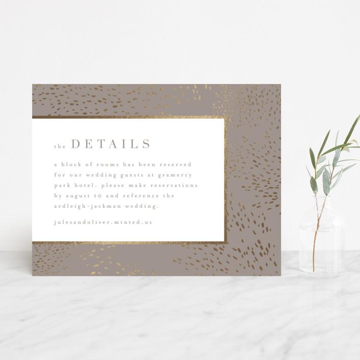 """Marais"" - Modern Foil-pressed Direction Cards in Warm Grey by Kristie Kern."