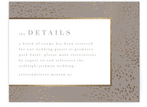 This is a grey enclosure card by Kristie Kern called Marais with foil-pressed printing on signature in standard.