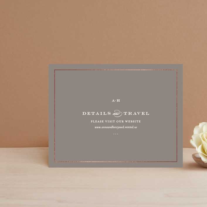 """""""Field"""" - Simple, Elegant Foil-pressed Direction Cards in White by Toast & Laurel."""