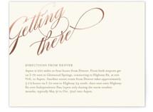 Winter Flourish Foil-Pressed Direction Cards