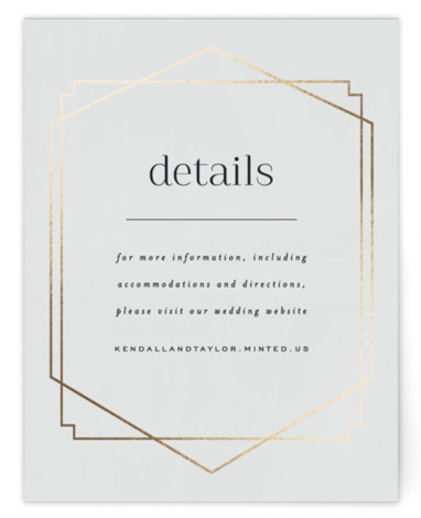 This is a modern, painterly, gold, grey Direction Cards by carly reed walker called Vision with Foil Pressed printing on Signature in Card Flat Card format. Classic design meets modern and bold typography